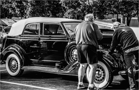 Old car hobby