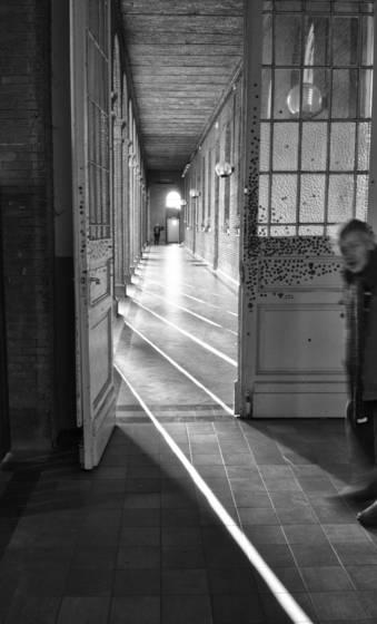 Corridor in mental asylum