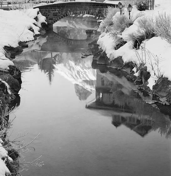 Reflections kandersteg river