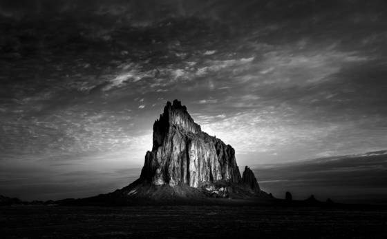 Sunrise shiprock
