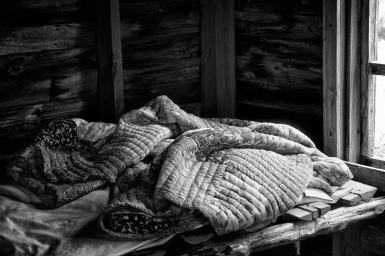 Rumpled quilt