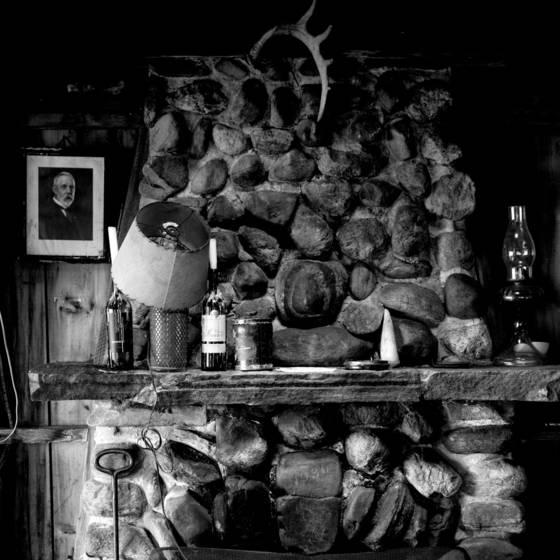 Fireplace portrait