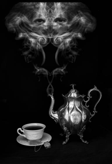 Steaming teapot