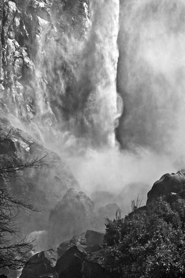 Bridle veil falls column
