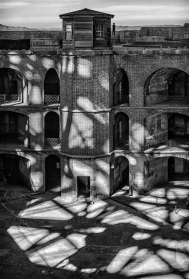 Shadows on fort point