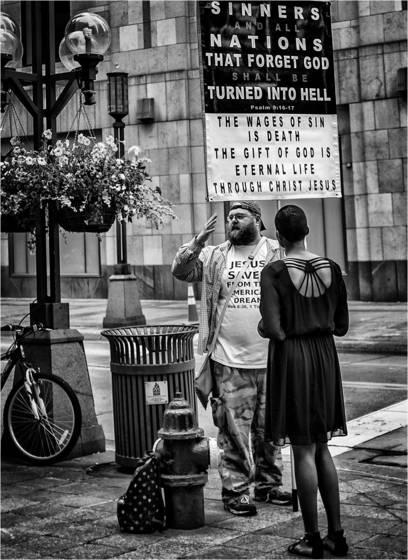 Encountering street preacher