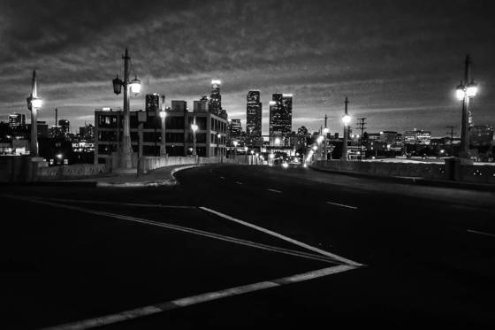 La down town in night view