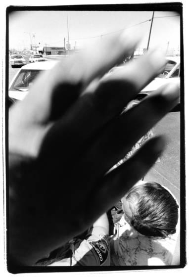 Hand block at accident scene