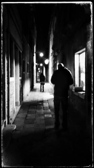 Man standing in window light no3