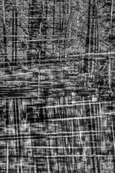 Beaver pond multiple exposure 1