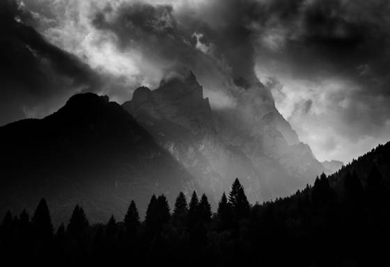 Mountain light dolomites iv