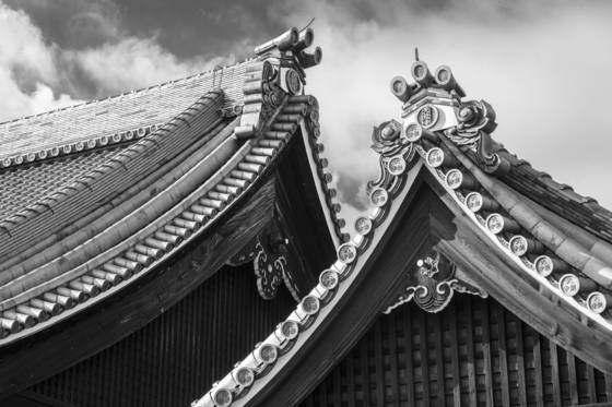 Roofs tenryu ji temple