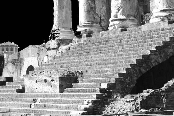 Roman temple steps