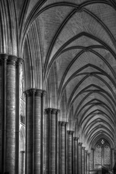 Salisbury cathedral arches