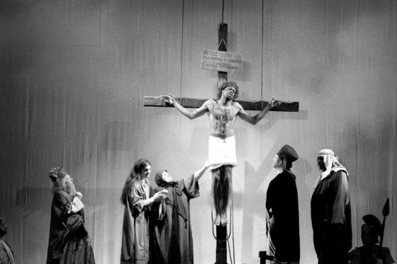 Passion play with black jesus