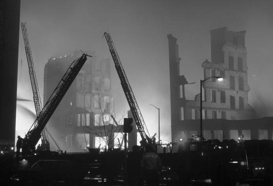 Shoe factory fire
