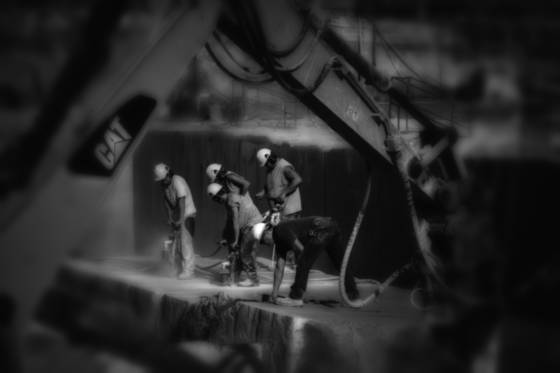 Limestone quarry workers 3