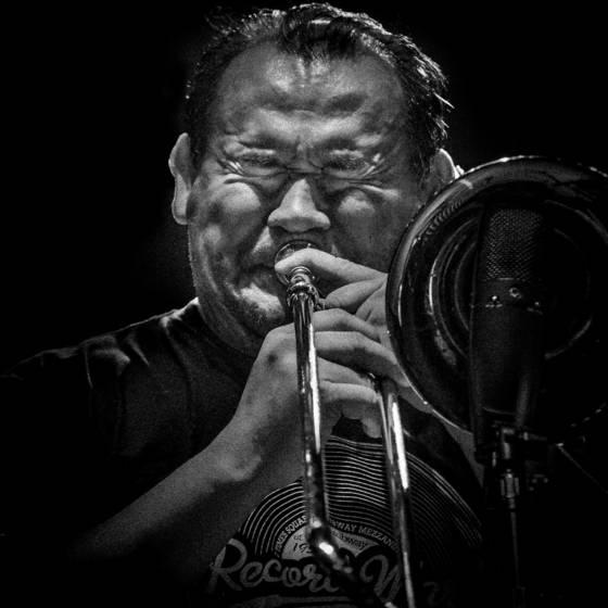Latin jazz trombone