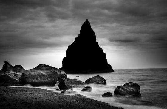 Basalt sea stack