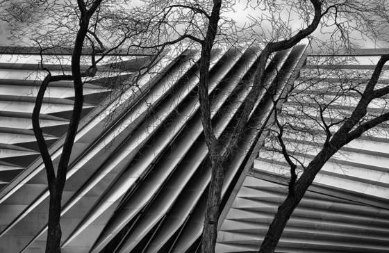 Eli broad museum in winter