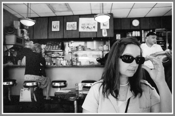 Diane at restaurant near metropolitan museum of art