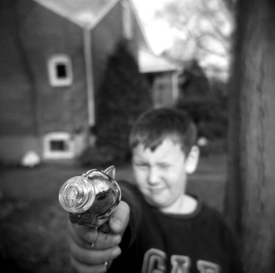 Boy with raygun