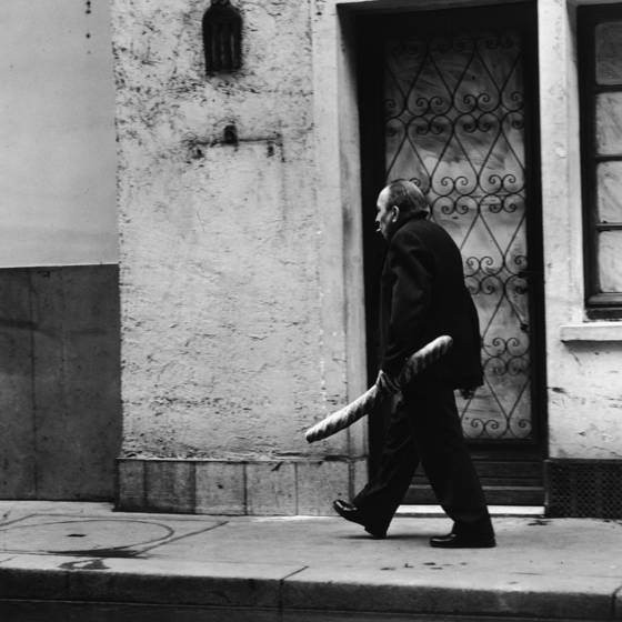 Man with baguette