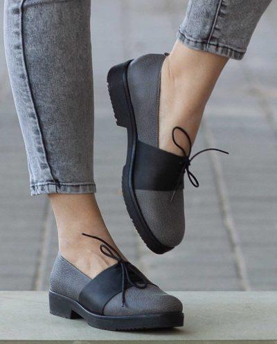 נעלי אוקספורד מעור