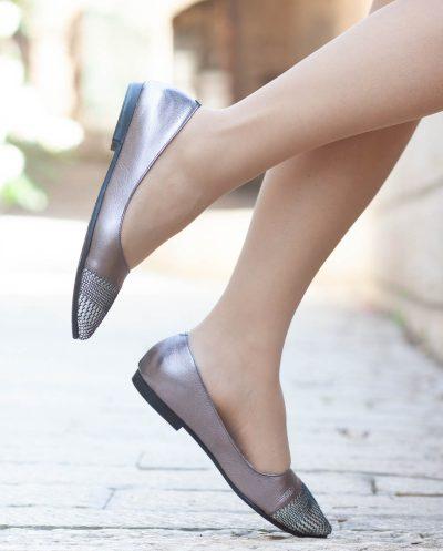 נעלי בובה שפיץ מעור