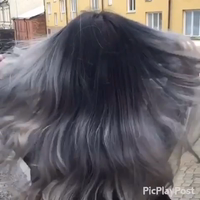 Grey hair with Olaplex and styled with L'anza Healing Oil