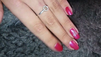 Pink gellac amzing pink silver DIaMOND