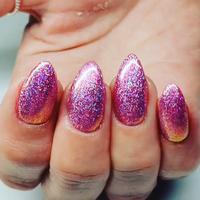 PINK Glitter chrome