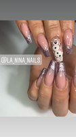 Olaf and glitter french
