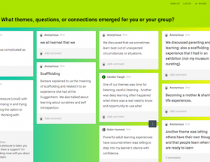 Padlet responses from DARO event participants