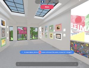 screenshot of virtual art exhibition