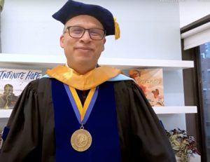 Bank Street President Shael Polakow Suransky during the 2021 commencement ceremony