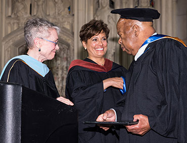 Congressman John Lewis at Bank Street's graduate commencement