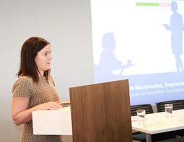 Report presentation of Hidden in Plain Sight, about funding teacher residencies