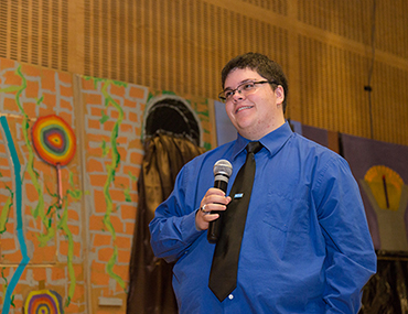 Gavin Grimm visits the School for Children