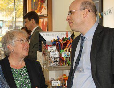 Chancellor Carmen Fariña with President Shael Polakow-Suransky at the Bank Street Book Store.