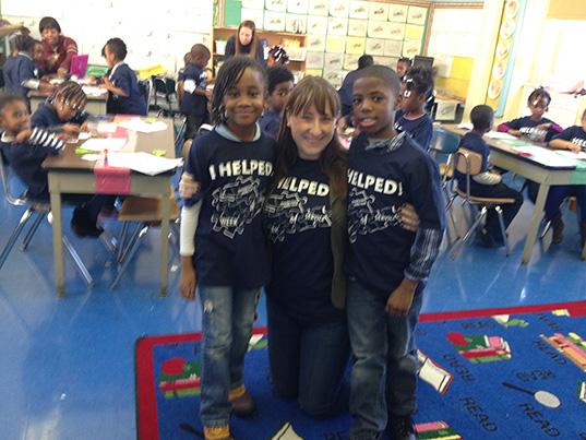 Meghan Dunn and students