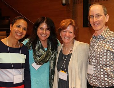 Pictured: Nina Crews, Laura Vaccaro Seeger, Jennifer Brown, and Paul O. Zelinsky