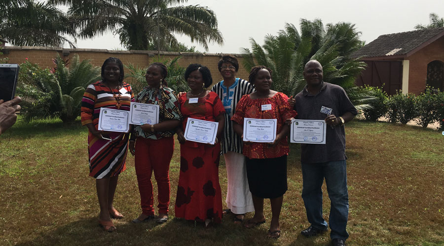 Group Photo of Certificate Holders in Liberia