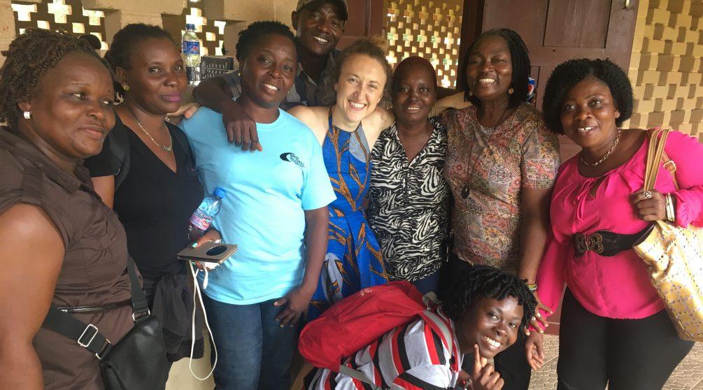 Erica Licht working in Liberia