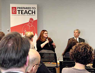 Panel discussion about funding teacher residencies by Bank Street's Prepared to Teach program