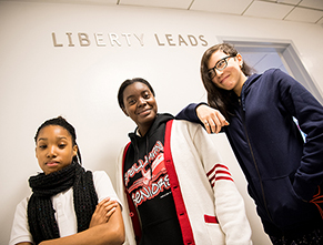 three liberty leads students