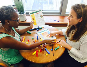Teachers learn to work with the Building Blocks math curriculum