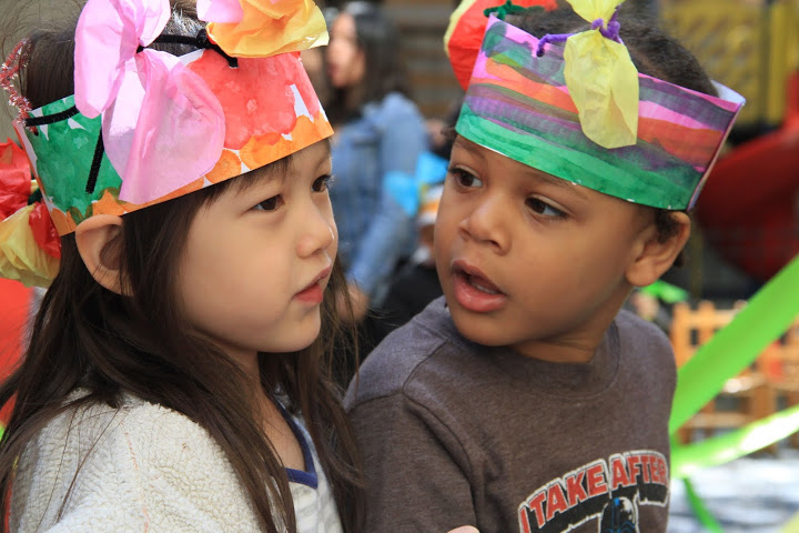 Two children at Head Start May Day event