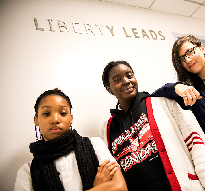 Liberty LEADS students