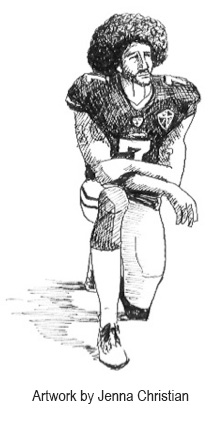 Drawing of Colin Kaepernick